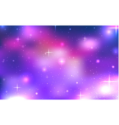 Background space with stars and nebula vector