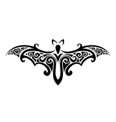 bat Balck and white vector image