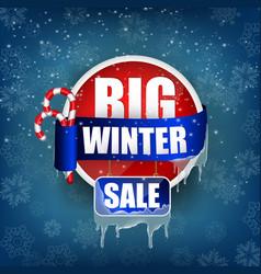 big winter sale concept background vector image