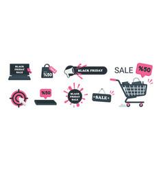 black friday sale icon vector image