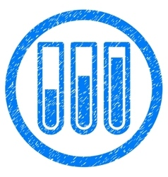 Blood Test Tubes Rounded Icon Rubber Stamp vector image