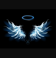 Blue angel wings vector