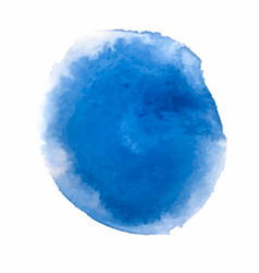 blue watercolor paint stain backgrounds vector image