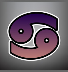 cancer sign violet gradient vector image
