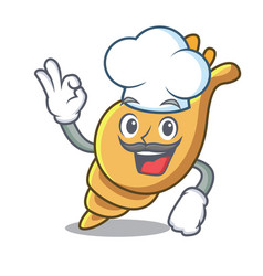 Chef exotic shell character cartoon vector