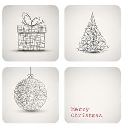 Christmas decoration card vector