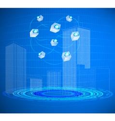 Cloud in cities vector image