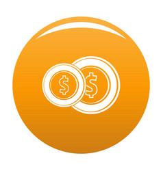 coin icon orange vector image