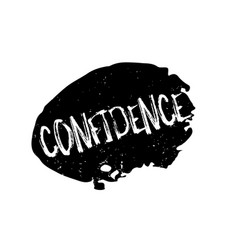 Confidence rubber stamp vector