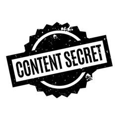 Content secret rubber stamp vector