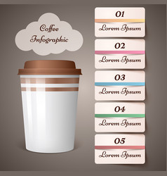 Cup coffee tea - business infographic vector