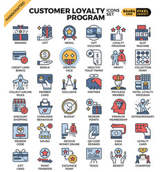 Customer loyalty concept icons vector