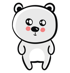 cute bear on white background vector image