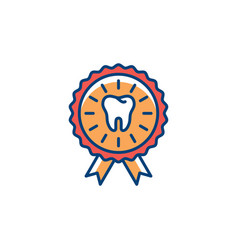 Dental certificate icon care award icon vector