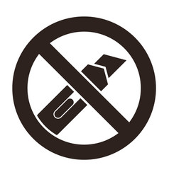 do not cut icon vector image