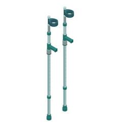 Elbow crutches icon isometric style vector