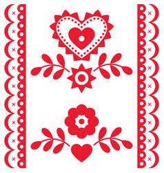ethnic polish long seamless pattern vector image