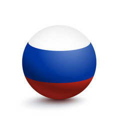 flag of russia in the form of a ball vector image
