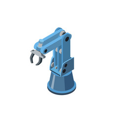 grab robotic arm on white vector image