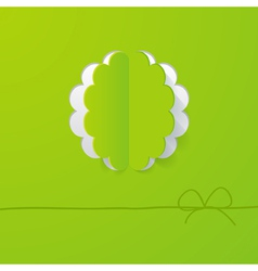 green background with a floral frame vector image