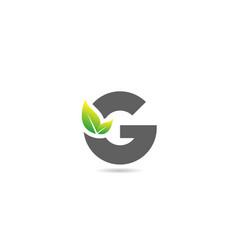 Green grey g alphabet letter logo icon for vector