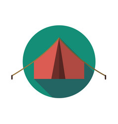 icon tent vector image