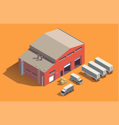 industrial fabric building composition vector image