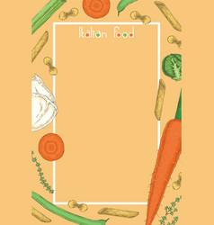 italian food menu template vector image