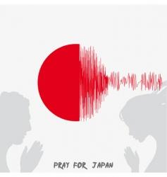 Japan flag vector