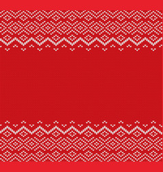 Knited christmas geometric ornament design with vector