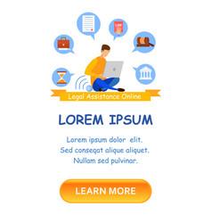 lawyer school enrollment landing page template vector image