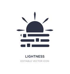 Lightness icon on white background simple element vector