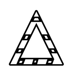Line triangle attention symbol to security vector