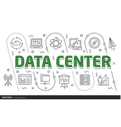 lines template data center vector image