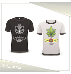 Medical marijuana tshirt two vector