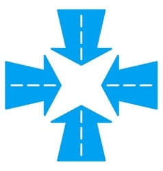 Merge Directions Icon vector