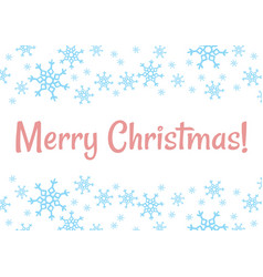 merry christmas winter snowflakes holiday vector image