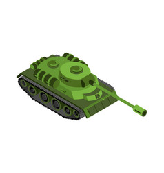Military tank isolated army war machine on white vector