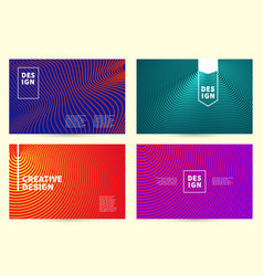 modern covers design ultra line striped vector image