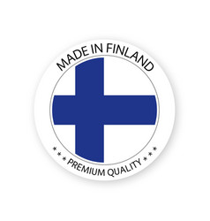 Modern made in finland label finnish sticker vector