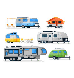 Motorhome camper caravan and house truck vector