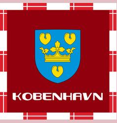 National ensigns of denmark - copenhagen vector