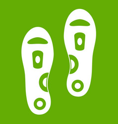 orthopedic insoles icon green vector image