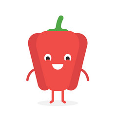 paprika cute vegetable character vector image