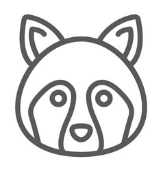 racoon line icon animal and zoo coon sign vector image