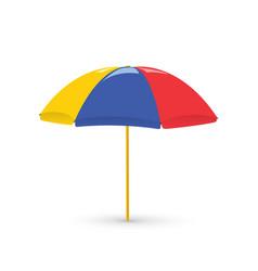 Red beach umbrella holiday vector