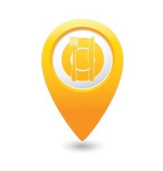 restaurant icon yellow pointer vector image vector image