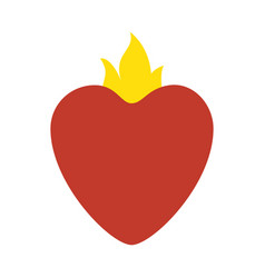 Sacred jesus heart icon vector