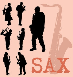 Saxophone set vector