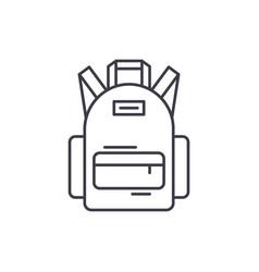 school bag line icon concept school bag vector image